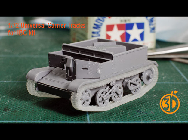 1/72 Universal Carrier Tracks (for IBG) in Smooth Fine Detail Plastic