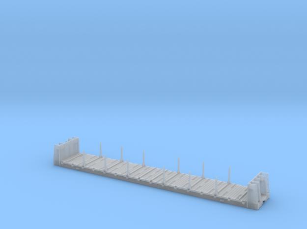 Bulkhead Flatcar TTJX TSH7R -  Deck Chains - HO in Smooth Fine Detail Plastic
