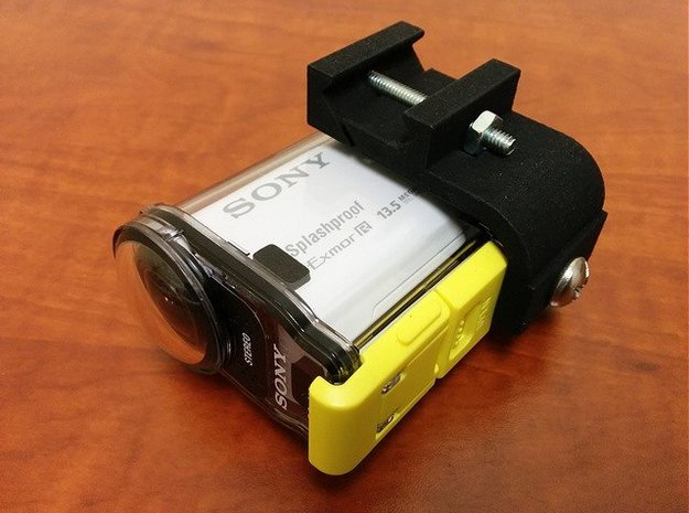 Sony Action Cam Picatinny Mount Adapter in Black Natural Versatile Plastic