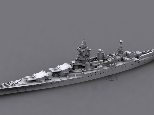 1/1800 MN BC Dunkerque[1940] 3d printed