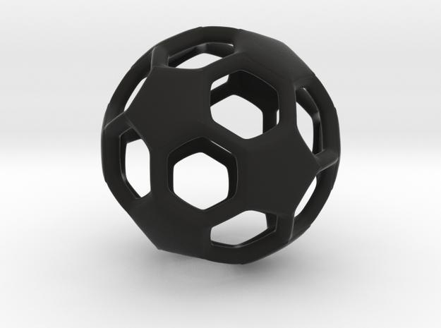MiniSoccerBall in Black Natural Versatile Plastic