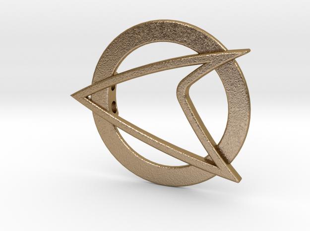 Starfleet Pendant in Polished Gold Steel