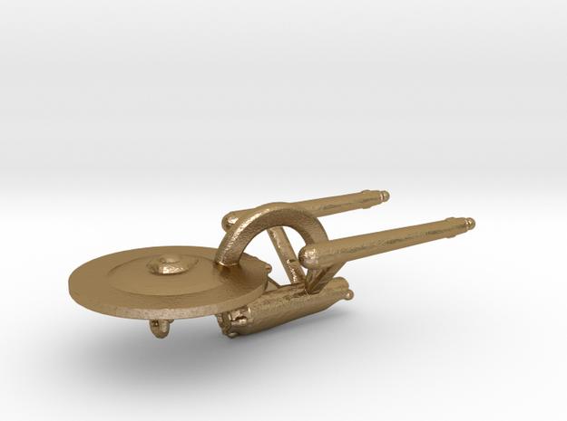 Enterprise Pendant in Polished Gold Steel
