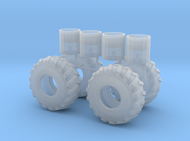 1/87th log skidder or construction tires