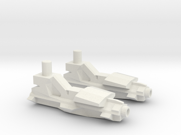 Transformers Generations Jet Ripper Guns in White Natural Versatile Plastic