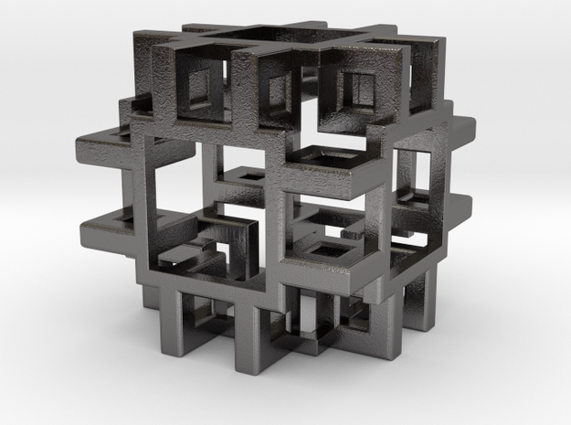Squared Cubic Small in Polished Nickel Steel