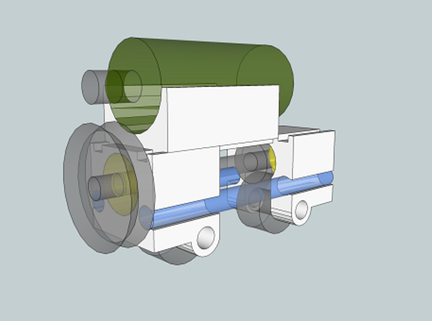 FlexChassis: 2,3 of 4 axles.   H0e / 009 / N