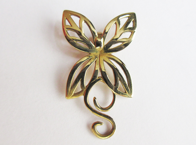 Leaves Butterfly Pendant