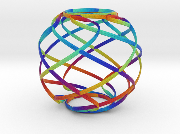 Ribbon Sphere Large in Full Color Sandstone