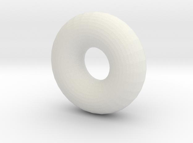 Iceddonut in White Natural Versatile Plastic
