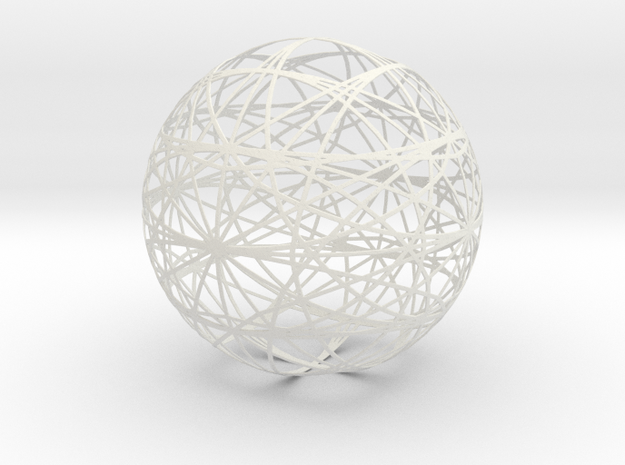 1050 sphere_200mm in White Strong & Flexible