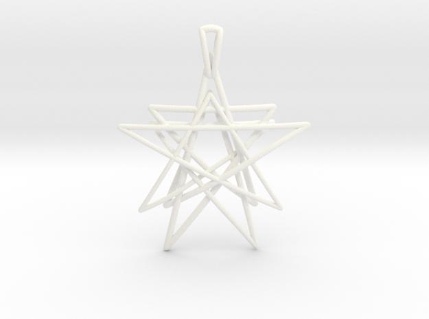 Reach for the Stars Pendant in White Processed Versatile Plastic