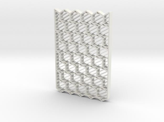 BarberPole3Dprint in White Natural Versatile Plastic