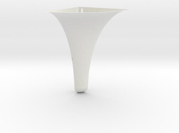 (corner Wall Mount) Flower Yoke in White Natural Versatile Plastic
