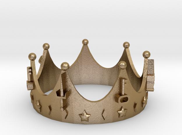 Geekings Crown in Polished Gold Steel