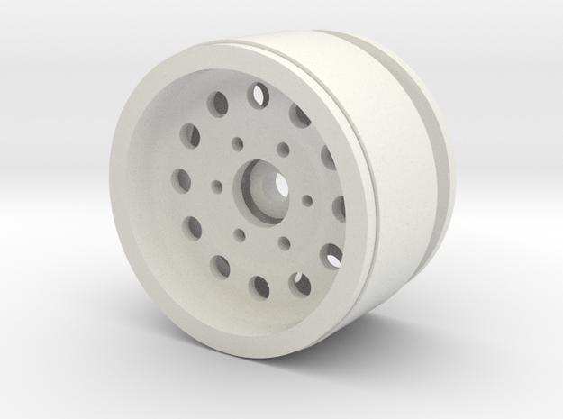 "1.9"" Beadlock Wheel with 12mm Hex in White Natural Versatile Plastic"