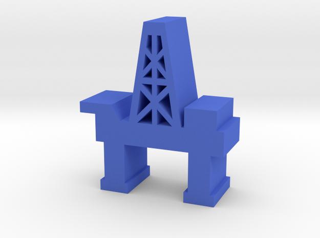 Game Piece, Oil Platform in Blue Processed Versatile Plastic