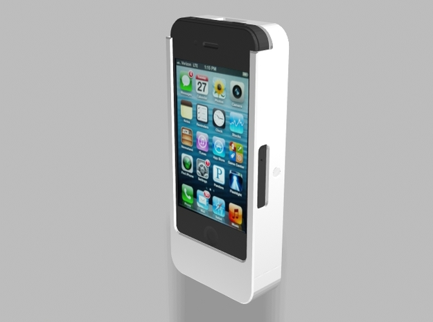iPhone4/4s Camera Mount 2500mah Charger with USB O in White Strong & Flexible