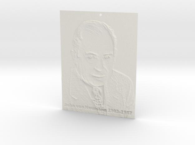 John von Neumann Shadowgram in White Natural Versatile Plastic