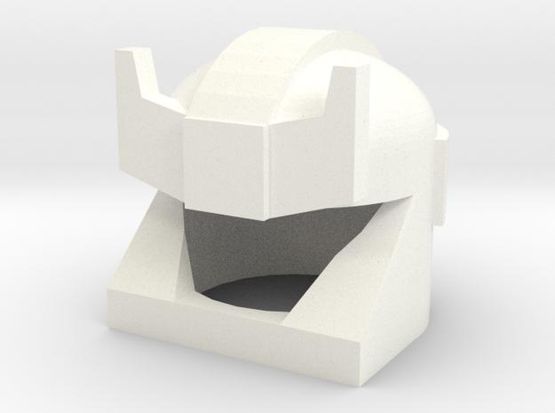 Robohelmet: Smoking Barricuda wChinstrap in White Processed Versatile Plastic