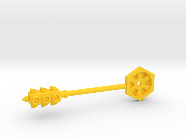 Lights Out - 5mm Traffic Light/Club Weapon  in Yellow Processed Versatile Plastic