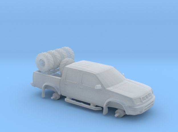 1/87 Scale Fun Double Cab 4x4 in Smooth Fine Detail Plastic