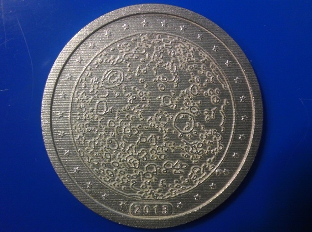 1 Lunaro Sterling 2013, age of aquarius, coin. 3d printed