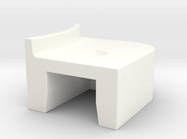 A90 Atlantic door lever L in White Processed Versatile Plastic