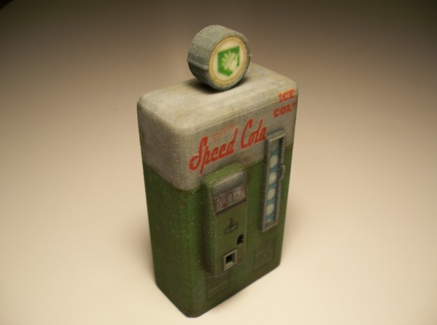 Speed Cola - Nazi Zombies Miniature Perk Machines in Full Color Sandstone