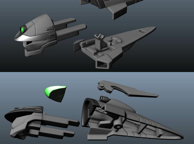VF-4C/G/K Custom Head Unit 3d printed Parts breakdown.