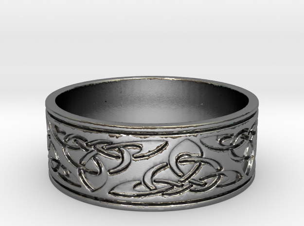 celtic Ring Size 9 in Polished Silver