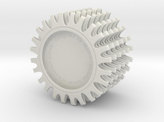 Coaster of inverted petals x6 in White Natural Versatile Plastic