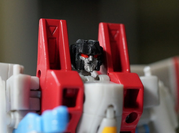 Screamer Head Master Version in Smooth Fine Detail Plastic