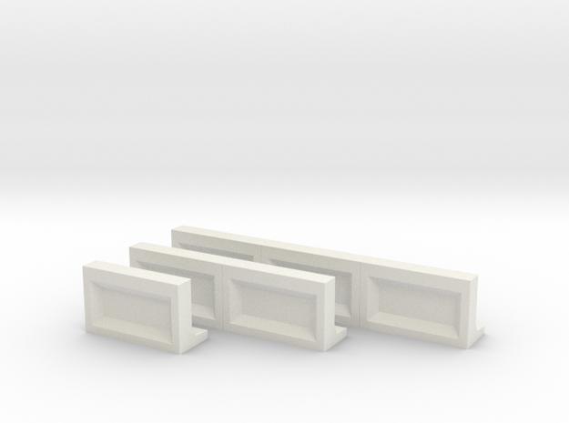 Bahnsteigkante 1-2-3 in White Natural Versatile Plastic