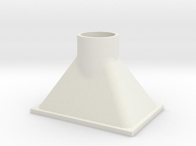 Rauchgastrichter für Lokschuppen 1:32 in White Natural Versatile Plastic