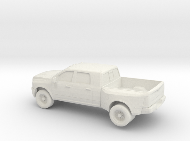 1/64 2010 Dodge Ram 3500 Dually in White Strong & Flexible