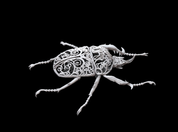 Goliath Beetle filigree - 18.6cm 3d printed