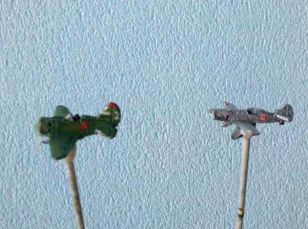 1/300 Latvian VEF Irbitis I16 Fighter 3d printed Not to be confused: A Soviet Polikarpov I-16 and the Irbitis I-16