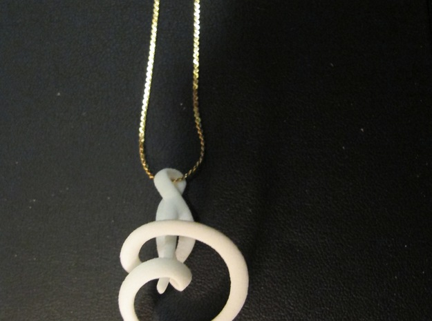 Calla Lily Necklace 3d printed Chain not included.