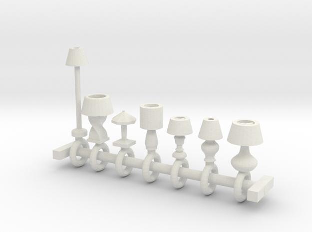 HO Scale lamp assortment