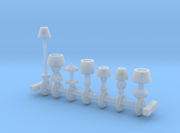 HO Scale lamp assortment 3d printed