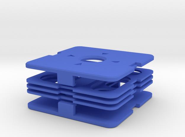 Dime Puzzle 3x3 v2 in Blue Processed Versatile Plastic