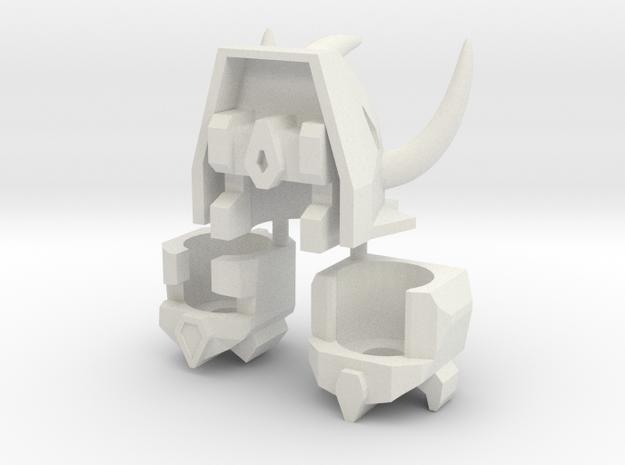 Robohelmets: Dinobuddies (Revised 2/15) in White Natural Versatile Plastic