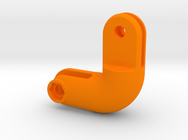 GoPro 90° Curved Inline Extension in Orange Processed Versatile Plastic