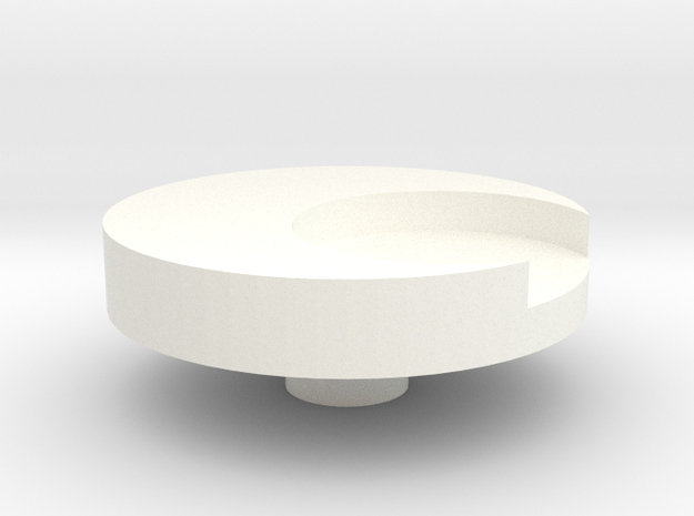 Small button for Moon Knight costume in White Strong & Flexible Polished