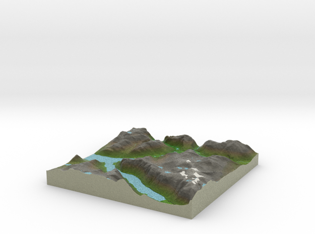 Terrafab generated model Sun Apr 12 2015 11:23:51  in Full Color Sandstone