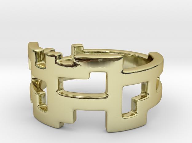 Ring Blocks in 18k Gold Plated Brass