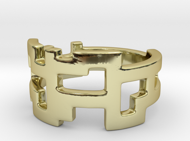 Ring Blocks - Size 5 in 18k Gold Plated Brass