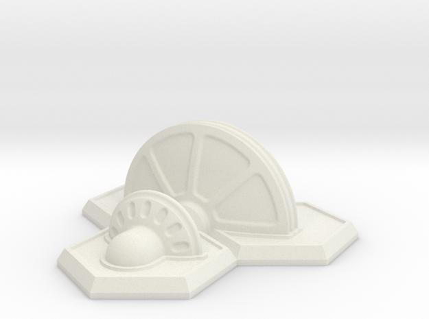 25x3 Shield Generator / Power Station in White Natural Versatile Plastic