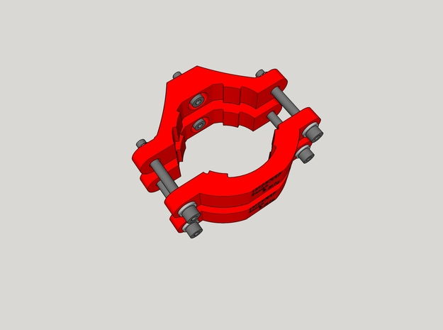 Benchtop CNC Router Clamps in Red Strong & Flexible Polished